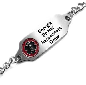 Georgia Do Not Resuscitate Bracelet