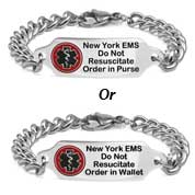 New York Do Not Resuscitate Bracelet 7 - 9 In