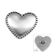 Engravable Stainless Heart Button to Make Your Own Bracelet