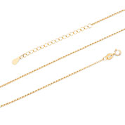 14K Gold Plated Sterling Rolo Neck Chain 1.5mm