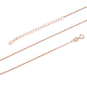 14K Rose Gold Plated Sterling Rolo Neck Chain 1.5mm