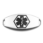 Deep Black Symbol Medical ID Tag