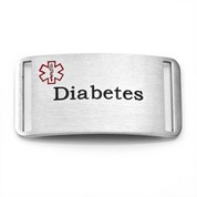 Diabetes Bracelet Stainless Steel Medical ID Tag