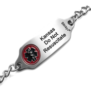 Do Not Resuscitate DNR Bracelet for State of Kansas