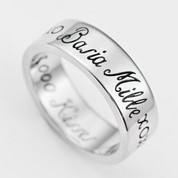 A Thousand Kisses Engraved Stainless Ring Size 11