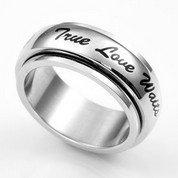 True Love Waits Spinner Promise Ring SZ 12