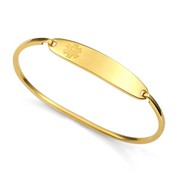Lesly Gold Bangle Style Medical ID Bracelet