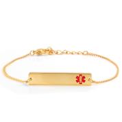 Adjustable Gold Bar Medical ID Bracelet
