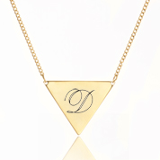 Gold Triangle Engraved Necklaces