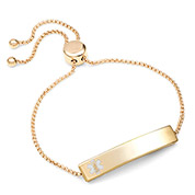 Gold Bolo Personalized Medical Alert Bracelet for Women