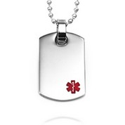 Engravable Medical Dog Tag Necklaces
