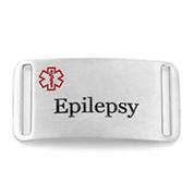 Epilepsy Seizure Alert ID Bracelet Tag