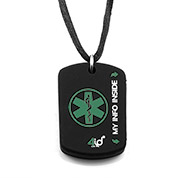 4ID Medical Dog Tag - Green - HSKU:4id104