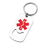 Medical Dog Tag Bottle Opener Keychain - HSKU:1058