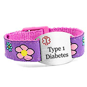 Flower Garden Type 1 Diabetes Bracelet
