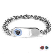 G Adult Stainless Steel Medical Bracelet (Optional Safety Clasp)