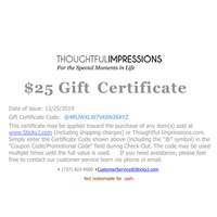 Personalized Gift Certificates