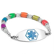 Glow in the Dark Multicolor Bead Medical Bracelet