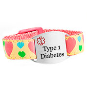 Hearts Type 1 Diabetes Bracelet