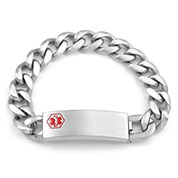 Astra Engravable Medical Bracelet for Men