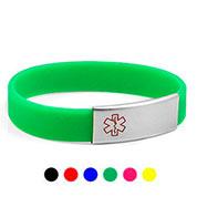 Silicone Medical Alert Bracelets