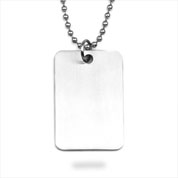 Brushed Titanium Rectangular Large Pendant