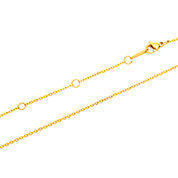 IP Gold Flat O Chain 18-20 inch