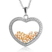 Astra November Birthstone Sterling Silver Heart Necklace