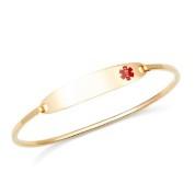 Lesly Gold Medical Bangle Bracelets