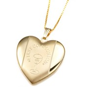 Gold Filled 1st Communion 2 Photo Heart Locket 15/16 Inch