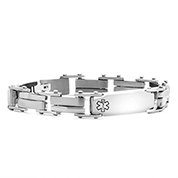 Marlon Stainless Steel Mens  Medical Bracelet