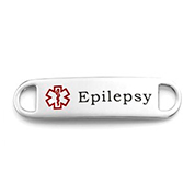 Medical Alert Tag for Epilepsy Bracelets