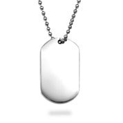 Engravable Stainless Steel Large Dog Tag
