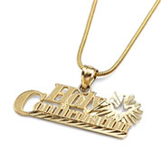 14k Gold Holy Confirmation Childrens Necklace