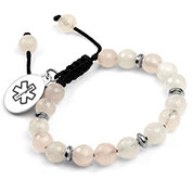 Moon Light Beaded Medical Alert Bracelet