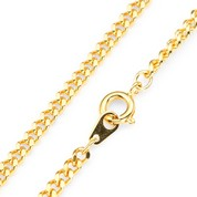 .33 Mils 24K Gold Plated Stainless Link Chain 24 Inch
