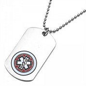 Oneida Medical ID Stainless Dog Tag Red Emblem