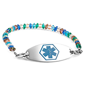 Pebble Beach Beaded Medical ID Bracelet