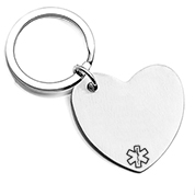 Personalized Brushed Steel Heart Keychain