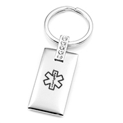 Personalized Medical Keychain with Crystals
