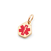 Petite Gold Plated Stainless Medical Alert Charm