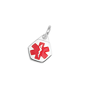 Petite Stainless Steel Medical Alert Charm
