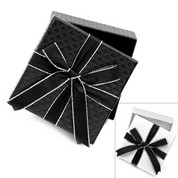 Black or White Gift Box & Bow - 3 3/8 inch W x 1 3/8 inch H