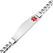 Kameron Sterling Silver Medical ID Bracelet for Men