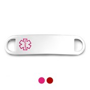 Pink and Red Alert  Medical ID Tags