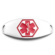 Red Symbol Steel Medical ID Tag
