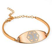 Rebecca Rose Gold Medical Bracelet