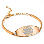 Rebecca Rose Gold Medical Bracelets for Women