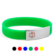 Colorful Silicone Medical Alert Bracelets