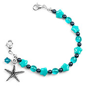 6 Inch Seaside Whirlpool Starfish Beaded Bracelet